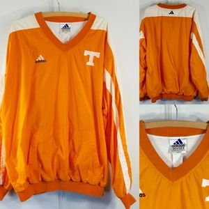 Adidas XXL Tennessee Jacket Pullover Lined Orange